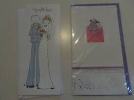 2 new unused wedding cards for 50p