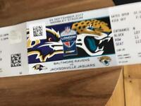 24 September 2 x NFL tickets - Ravens v Jaguars