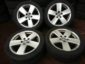 "Genuine OEM VW passat 17"" 5x112 alloy wheels audi seat skoda caddy golf"