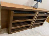 IKEA MALM HEAD BOARD WITH PULL OUT STORAGE.