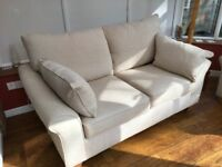 Harvey's Grayson 2 seater sofa and armchair oatmeal still current range