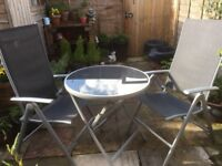 Garden furniture set - table + 2 chairs