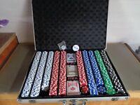 PROFESSIONAL 200/500 PIECE TEXAS HOLD'EM POKER CASINO GAME
