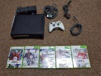 Xbox 360 elite bundle controller and games