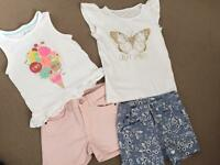 Girls summer clothes Bundle age 4-5 years M&S and H&M