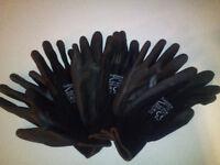 Black PU coated work gloves
