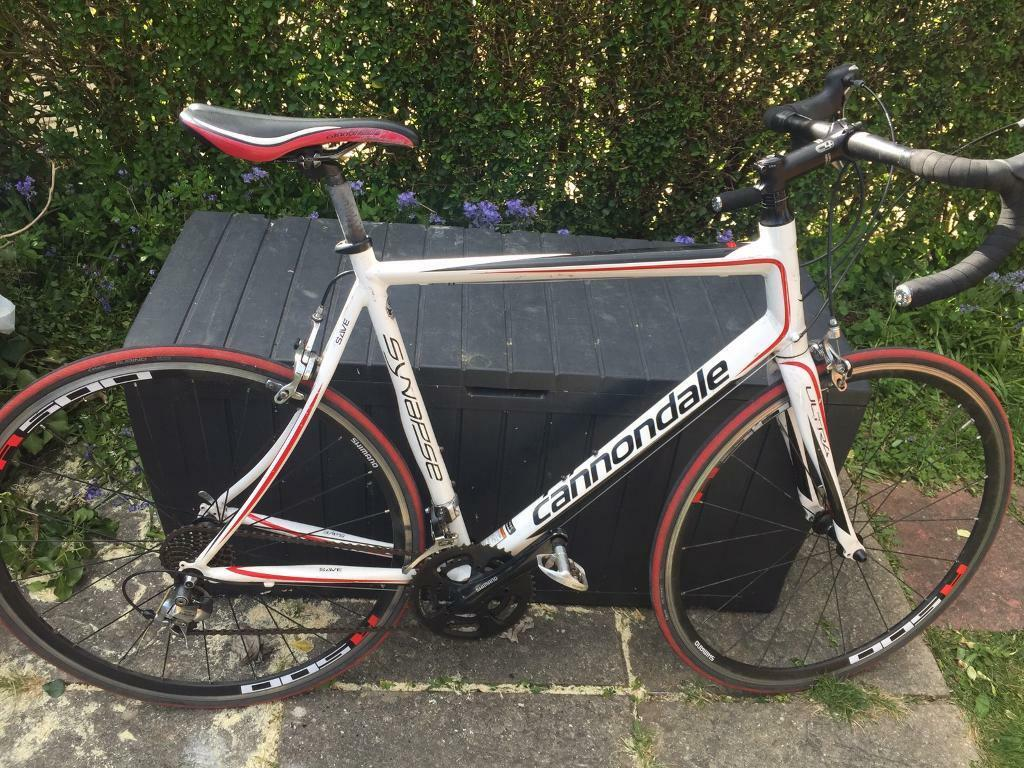 Cannondale synapse savein Bournemouth, DorsetGumtree - Cannondale synapse save 58 cm frame 18 speeds Shimano tiagra chain setLightweight alloy frame A bit of rust on the break clipper bolt still works fine some scuffs but noting major Great bike really light and fast All