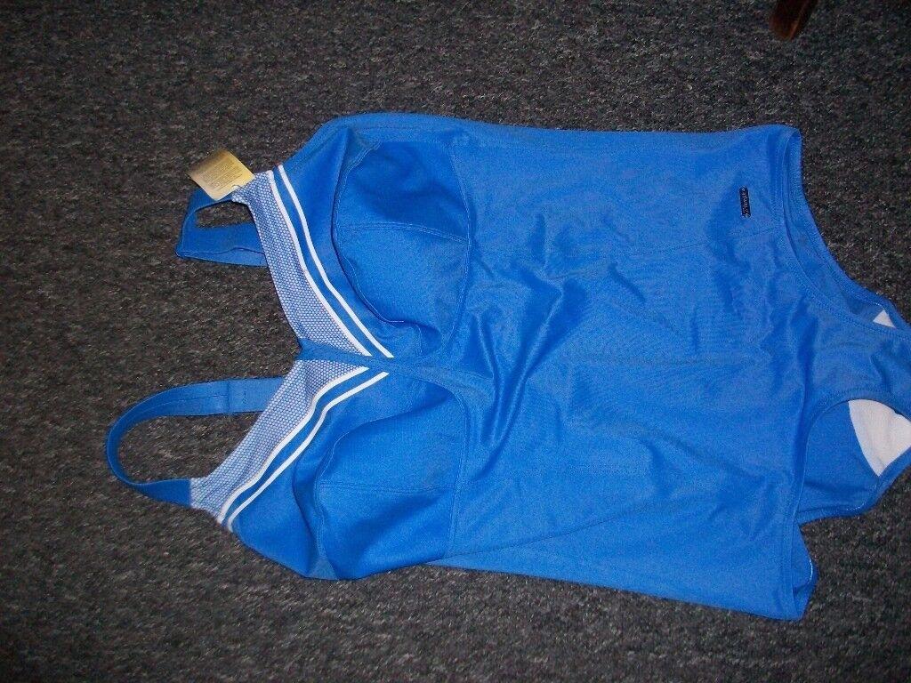Swimming costume. Blue, Triumph. Size 44F . New, unused.