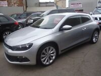 Volkswagen SCIROCCO GT TDI,3 dr hatchback,FSH,stunning looking car,runs and drives as new,great MPG
