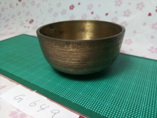 """2.933"""" Japanese Vintage Buddhist Bell Gong Rin G649 Gentle Tone"""
