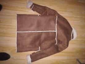 Winter coat, ZARA, brown, size S.