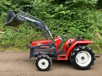 MITSUBISHI MT21 4WD Compact Tractor with Power Loader Bucket *** WATCH VIDEO *** 21HP, Nice loader