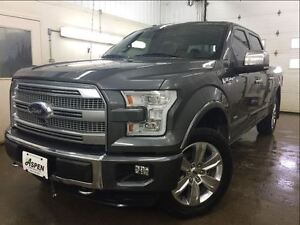2015 Ford F-150 PLATINUM- 4WD, LEATHER, MOONROOF, ADAPTIVE CRUIS