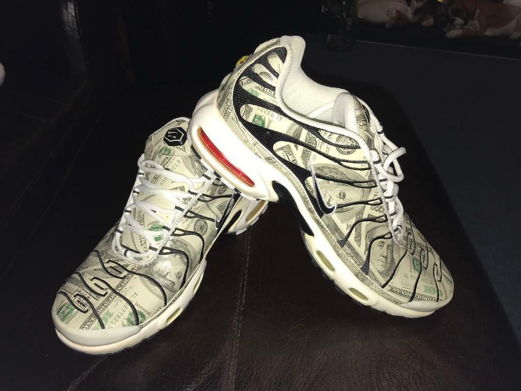 3b06fc8786a Nike TN Air Max Dollar Bill print trainers, size U.K. 8.5 rare | in  Torquay, Devon | Gumtree
