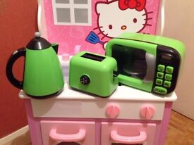 Toy Microwave, Kettle and Toaster Kitchen Set