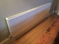 Double radiator and cover