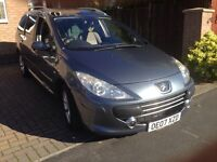 Peugeot307sw se hid, new mot, panoramic roof, 5seats with fixings and seat belts for 7 seats