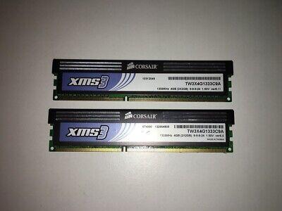 KIT MEMORIE RAM 2 x 2 GB = 4 GB DDR3 CORSAIR PC3 10600U 1333 MHz 240 PIN