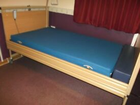 "BURMEIR ""ALLURA"" Nursing Bed - Fully adjustable 7' x 4' electric/remote bed c/w mattress"