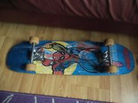Skateboard, good condition with Spiderman hologram