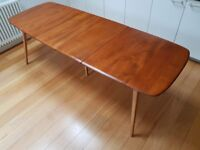 Ercol 444 Grand Windsor 5-leg extending dining table - professionally restored, excellent condition