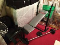 York Weights Bench and 104kg of Weights