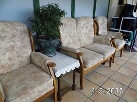 Cottage three piece suite in very good condition.