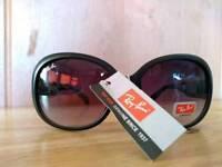 Ladies black and red RayBan sunglasses