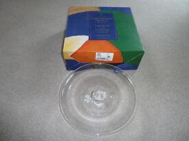 Dartington Crystal Cake Plate - Carousel Collection 1980's era