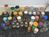 joblot of 42 Glass preserve jars