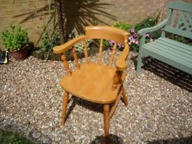 solid beech captain's chair