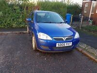 1.0 vauxhall corsa 2005 with 12 months M.O.T.