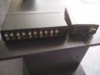 Speaker amplifier smsl sa50 plus4 way rca switch