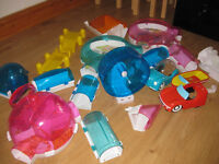 ZHU ZHU PETS ACCESSSORY COLLECTION (set 1) - including cars / boat / wheel & Funhouse - BARGAIN!