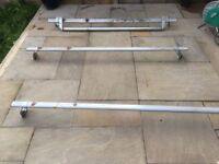 Roof bars and fittings for a Ford Transit Van, low roof and Roller bar