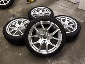 "18"" Hyper Silver Wheels 5x112 and winter tire pakcage (Audi Cars) Calgary Alberta Preview"