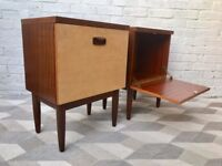 Pair of Vintage Retro Bedside Tables #511