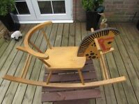 USED CHILDS WOODEN ROCKING HORSE