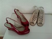 Two pairs of Ladies Shoes Clark's size 7