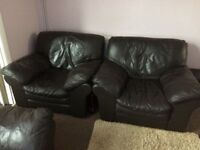 Real Leather sofas for sale