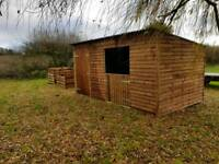 15 x 10 Pony shelter with tack/store room