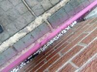 Pink high gloss glass splashback 600x700