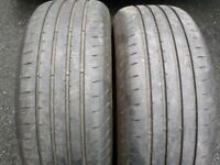 """235/60/18"""" GOODYEAR EAGLE F1 SUV PART WORN TYRES (4.25mm) VOLVO XC90 JAGUAR E PACE FOR ALLOYS WHEELS"""