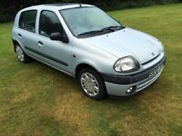 Renault Clio 1.2 RT 5dr,47644 miles!!! low mileage,service history,new clutch,12 months MOT,2 Keys