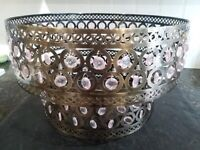 ***Bronze and pink beaded lampshade - £15***