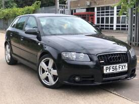 AUDI A3 2.0 TDI S LINE SPORTBACK 5DR HPI CLEAR FULL LEATHER SEAT FSH MOT TILL 04/2019 PX WELCOME