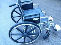 Drive Bariatric Heavy Duty Chrome Wheelchair Extra Wide Seat 24 inch VGC (WH_2309)