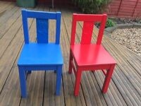 Chair for children - For him and for her - Blue and Red