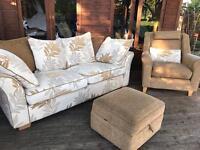 Sofa Armchair and Footstool