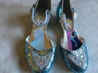 Frozen girls shoes blue shine size 3/36 used one time ex condition £4